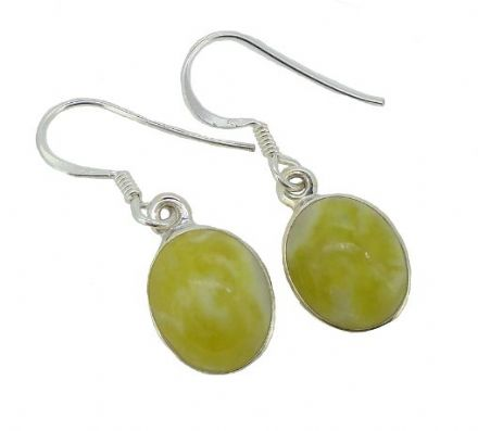 Scottish Green Marble Small Earrings HE1